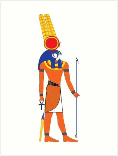 Láminas Artísticas Montu Colores Frescos Dioses Egipcios