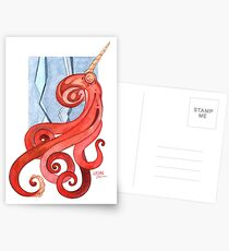 Magic Octopus - Red Postcards