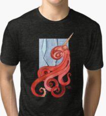 Magic Octopus - Red Tri-blend T-Shirt
