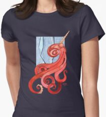 Magic Octopus - Red Women's Fitted T-Shirt