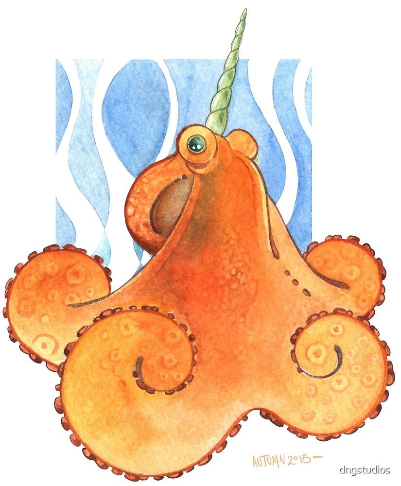 Magic Octopus - Orange by dngstudios