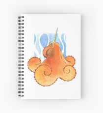 Magic Octopus - Orange Spiral Notebook