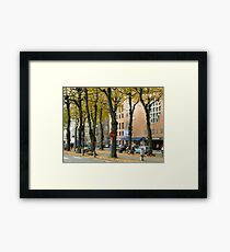 Streetview gothenburg Framed Print