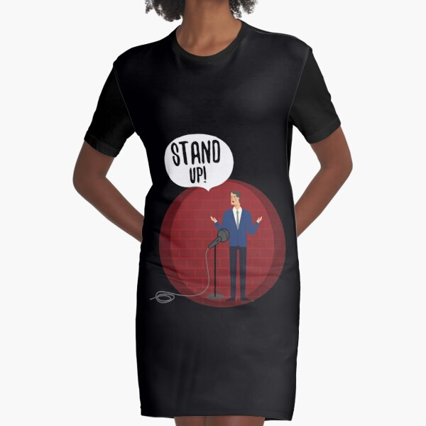 Cool Comedy or Comedians gift Graphic T-Shirt Dress