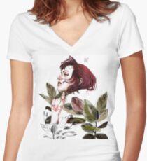 Broken heart Camiseta entallada de cuello en V