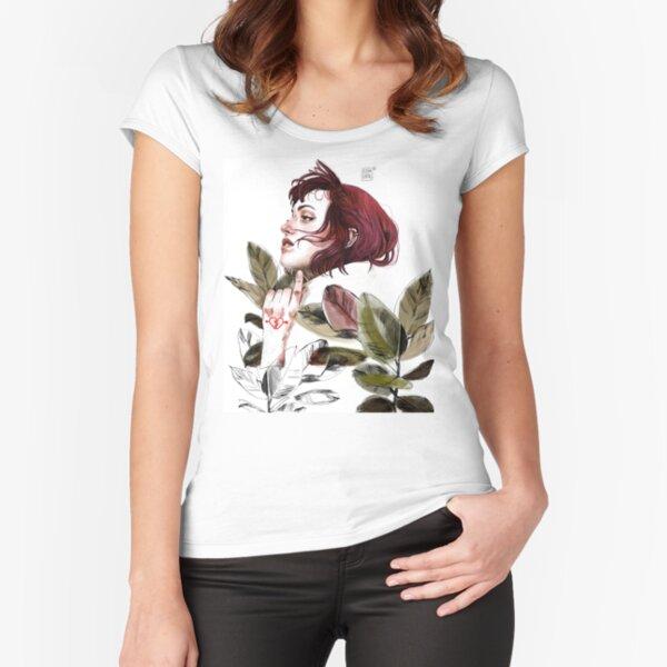 Broken heart Fitted Scoop T-Shirt