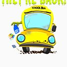 Monster Bus For Teachers and Staff Funny Back To School Gift Idea by SoCoolDesign