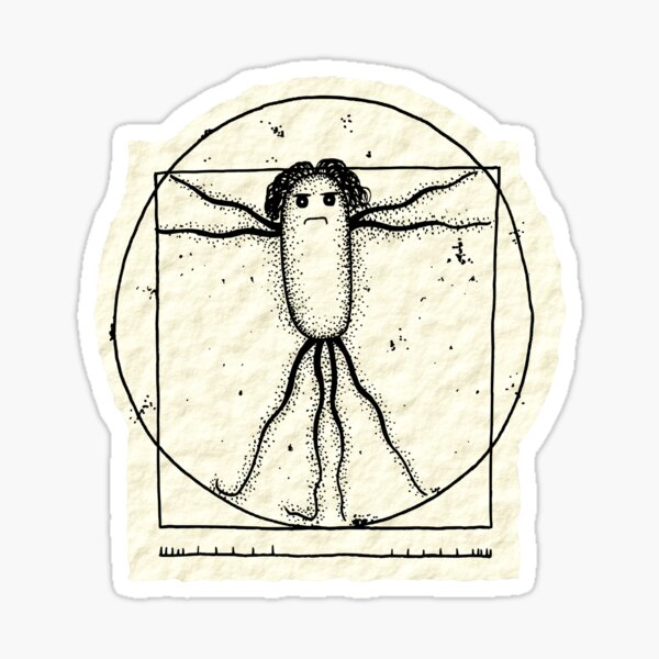 Vitruvian Bug Sticker Sticker
