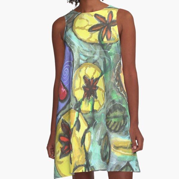 Mandala šťastného partnerství / Happy partnership mandala A-Line Dress