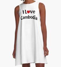 I Love Cambodia A-Line Dress