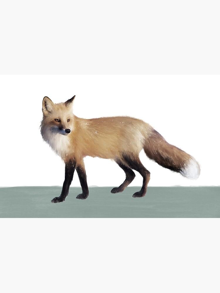 Fox on Sage by AmyHamilton