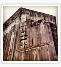 Distressed Barn in Wine Country  Sticker