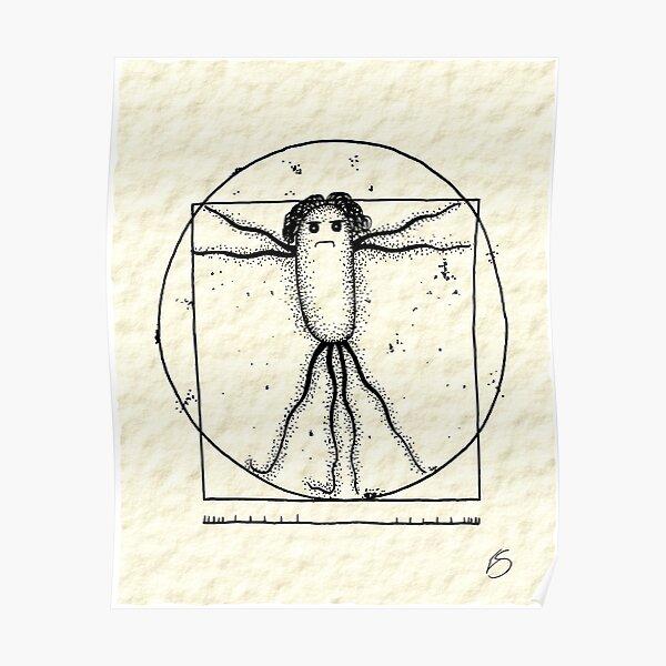 Vitruvian Bug Poster Poster