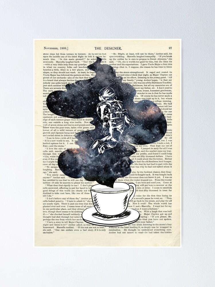 Alternate view of A Cup of Dreams - Astronaut/Universe Poster