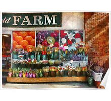 Store Front - The flower stand Poster
