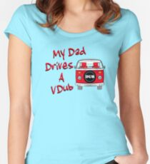 My Dad Drives a VDub (Red) Women's Fitted Scoop T-Shirt