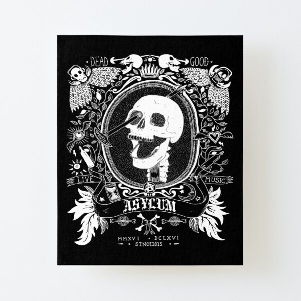 Asylum Music Lobotomy Skull Canvas Mounted Print