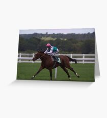Frankel Stretches Out Greeting Card