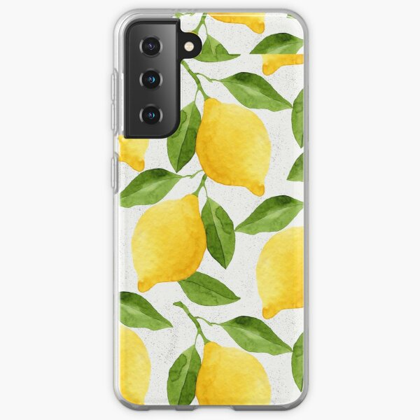 Watercolor Lemon Pattern Samsung Galaxy Soft Case
