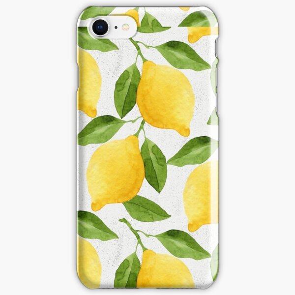 Watercolor Lemon Pattern iPhone Snap Case
