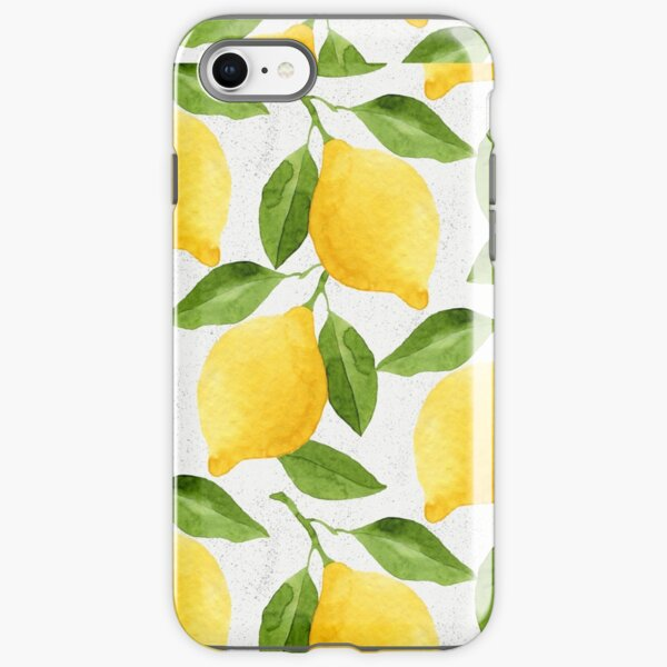 Watercolor Lemon Pattern iPhone Tough Case