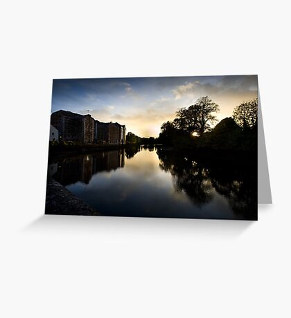 UpRiver On The Lee By The Maltings Greeting Card