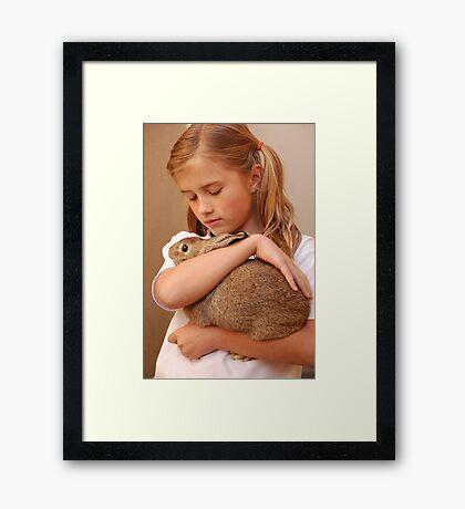 my fuzzy valentine Framed Print