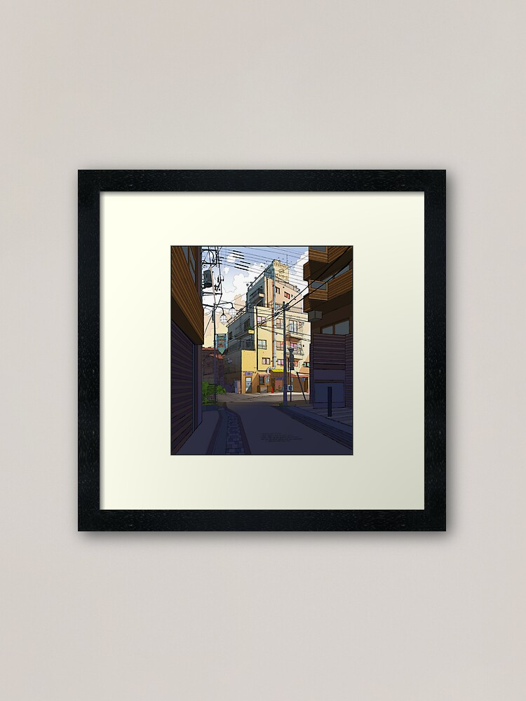 Alternate view of Morning Apartments Tokyo Framed Art Print