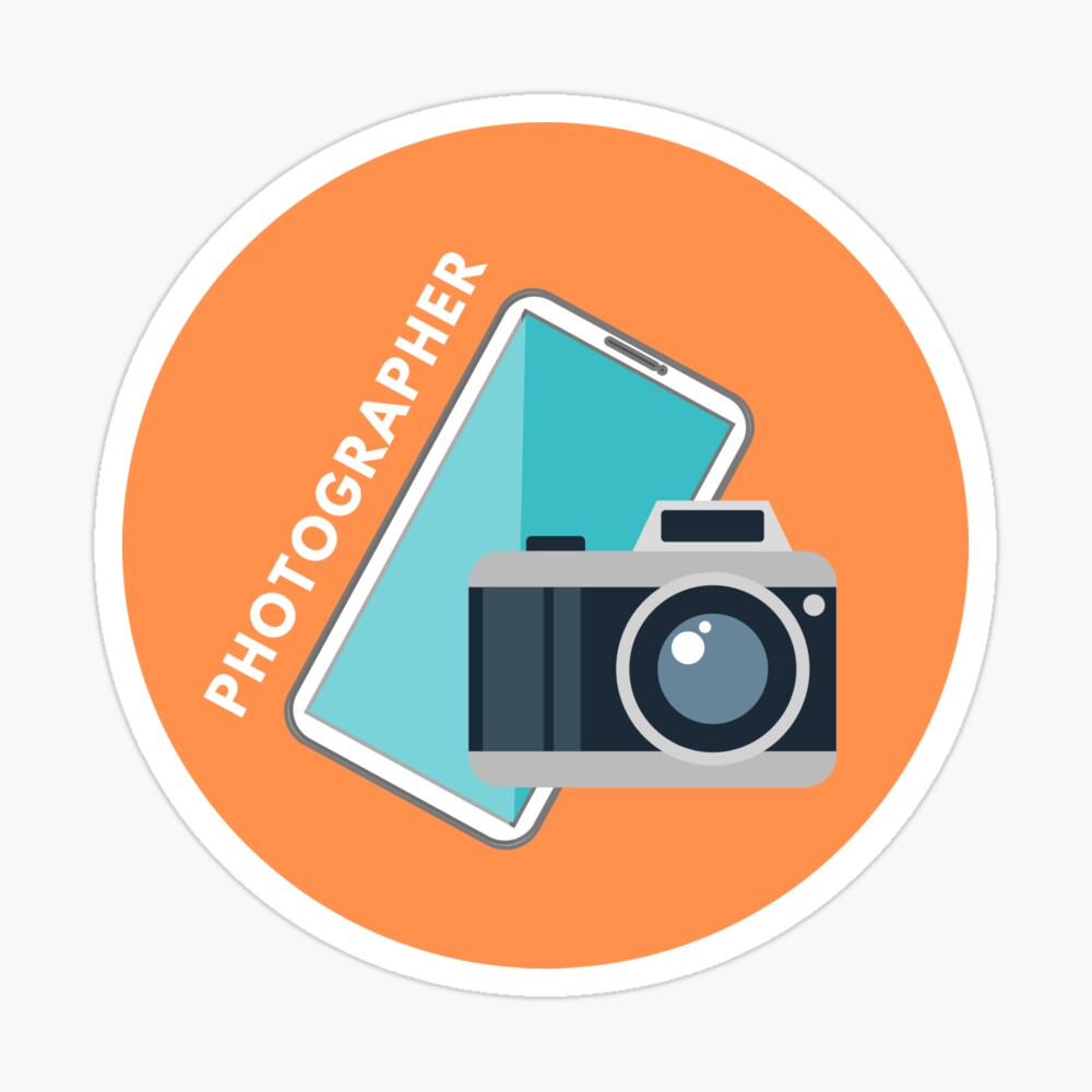 iPhone Photography Badge Sticker Sticker