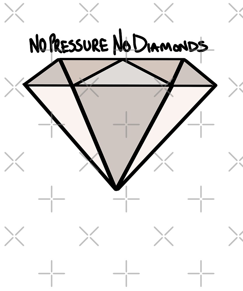 BJJ No Pressure No Diamonds by Energetic-Mind