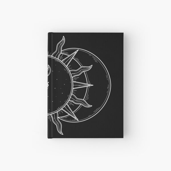 Celestial Sun and Moon and Stars Hardcover Journal