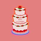 Just Married Wedding Cake by elledeegee