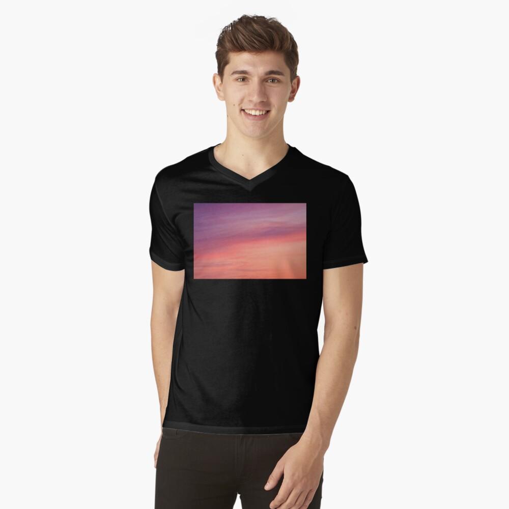 Colorful sunset clouds at dusk sky scape V-Neck T-Shirt