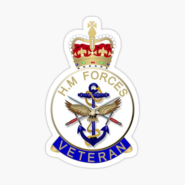 HM FORCES VETERAN ABZEICHEN. BRITISH VETERAN. Sticker