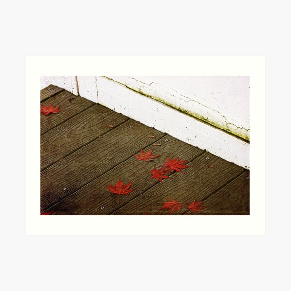 Fall on the Porch Art Print