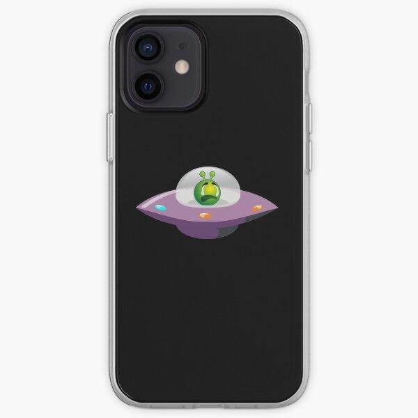 iPhone 12 - Souple 'Vaisseau spatial de dessin animé d'émoticônes Alien Emoji' par podartist