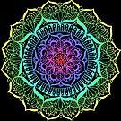 Rainbow Flower Mandala by julieerindesign