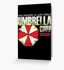 Umbrella Corporation Greeting Card
