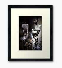 Wash your hands with.. Framed Print