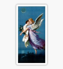 Angel of Peace Vintage Poster Restored Sticker