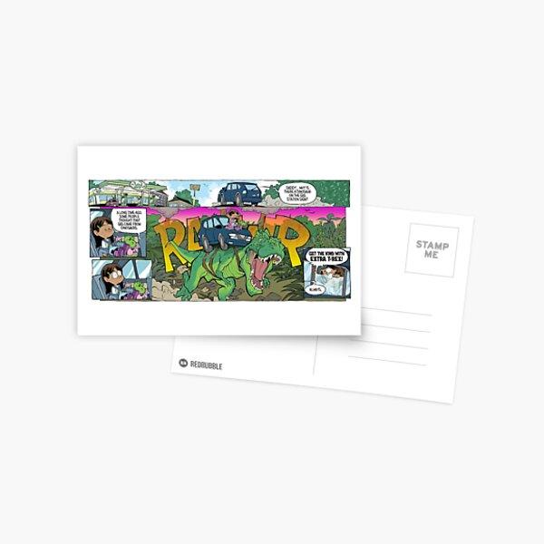 """Dinosaur Turbo Boost!"" Postcard"