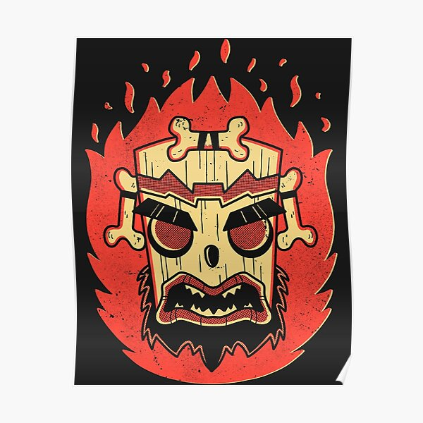 Retro Uka Mask Poster