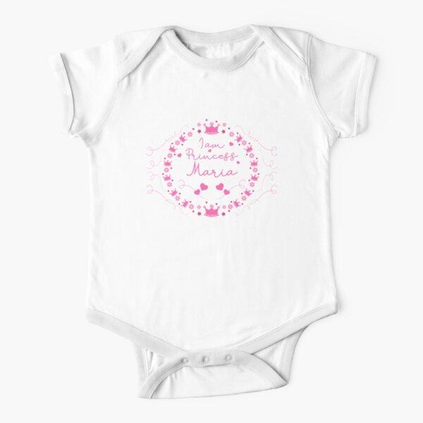 Maria bebé niña lindo princesa Body de manga corta para bebé