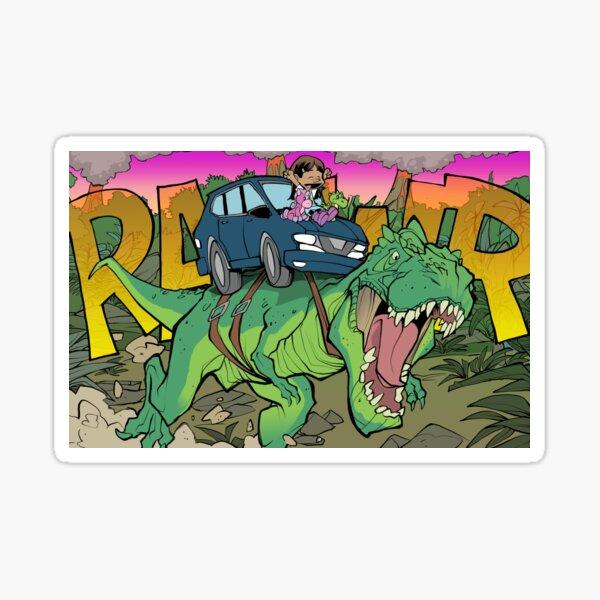 Riding a T-Rex! Sticker