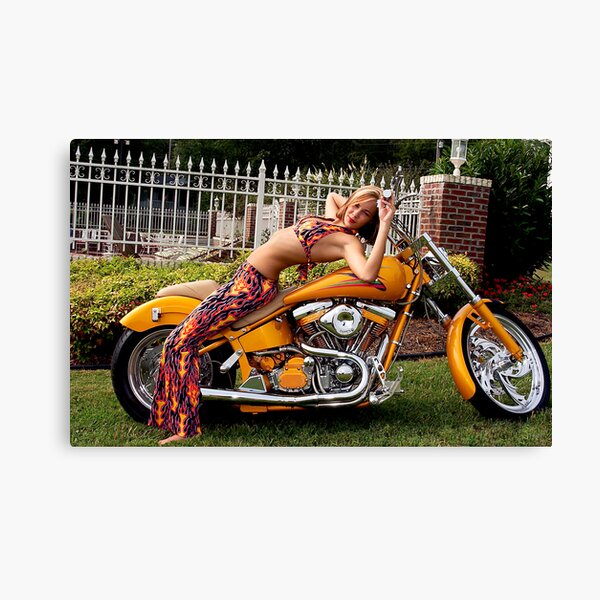 Bikes & Babes Series Canvas Print