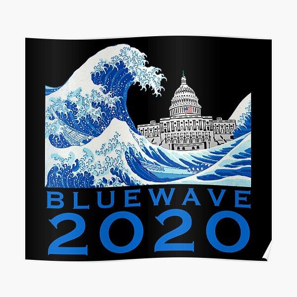 Blue Wave 2020 USA General Election Flip Senate White House Poster