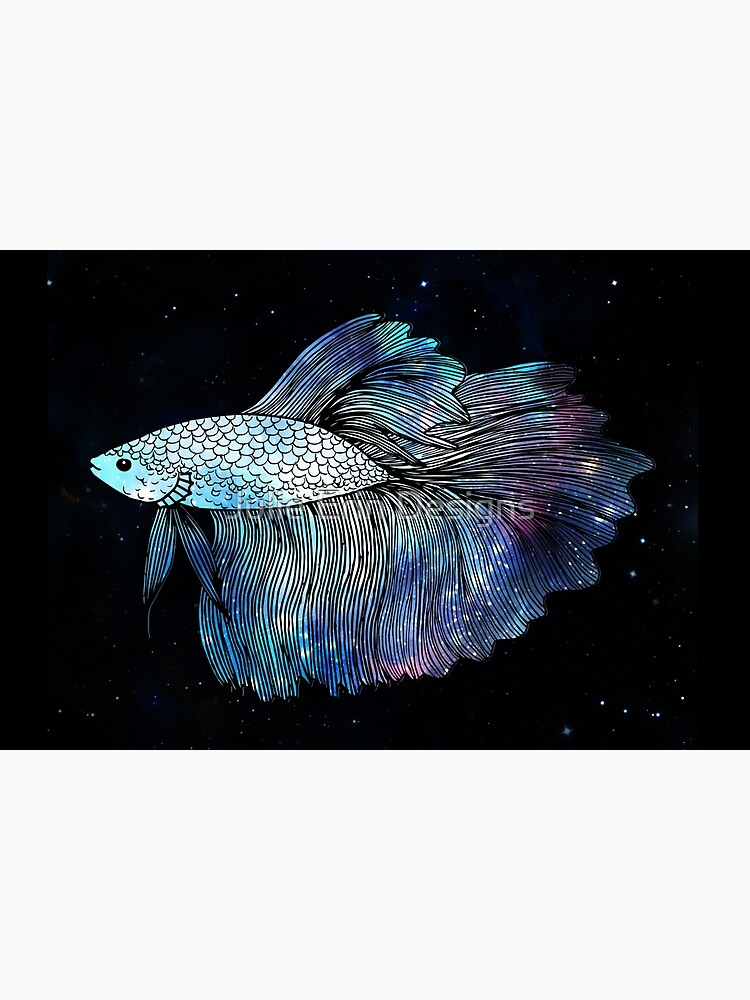 Blue Galaxy Betta Fish by julieerindesign