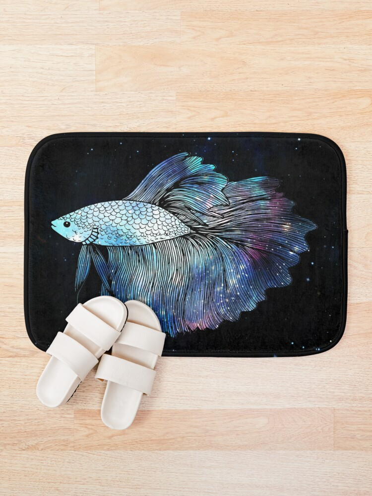 Alternate view of Blue Galaxy Betta Fish Bath Mat