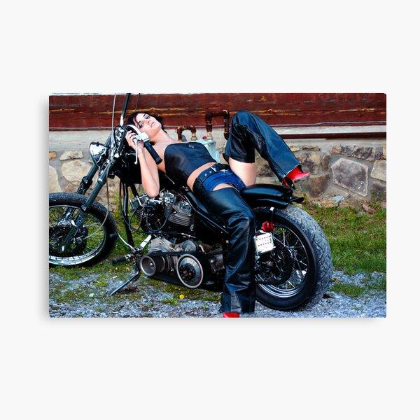 Bikes & Babes Series Canvas Print