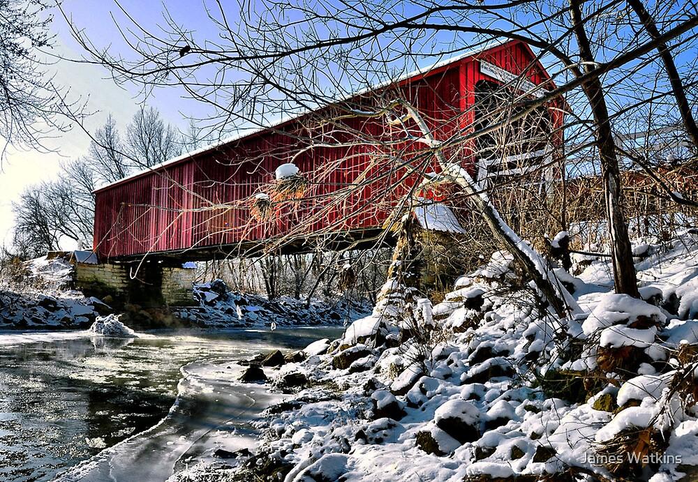 Red Covered Bridge by James Watkins